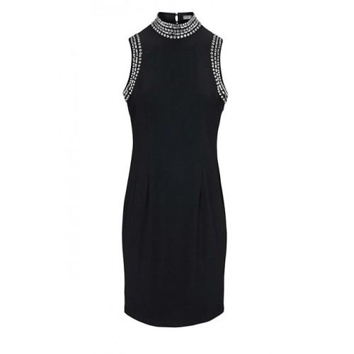 Šaty so štrásom Ashley Brooke, čierna