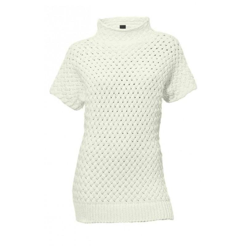 Biely pulóver s krátkym rukávom HEINE
