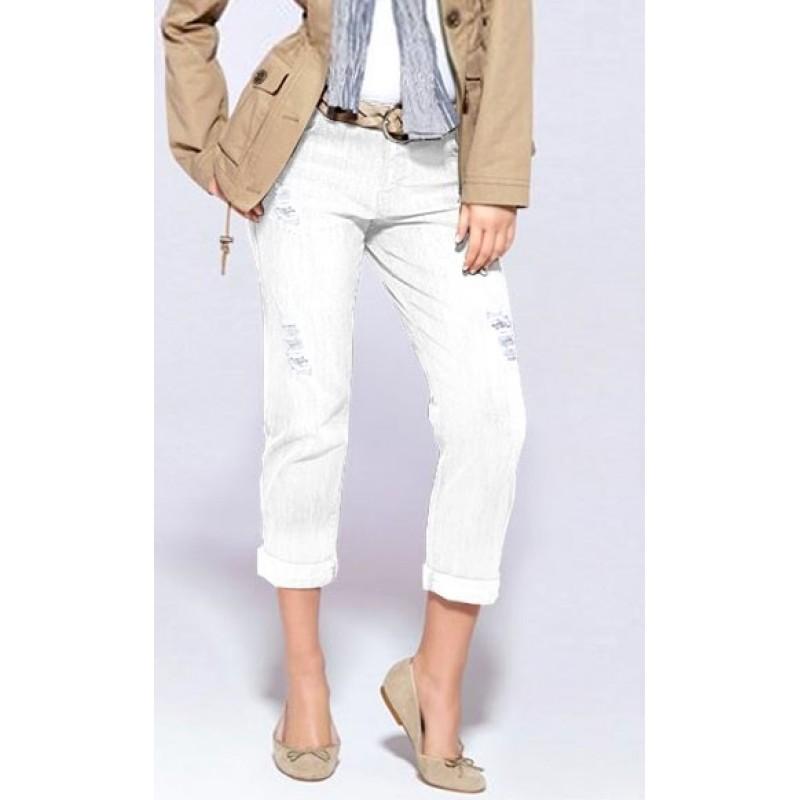 Strečové džínsy APART - biela - 32