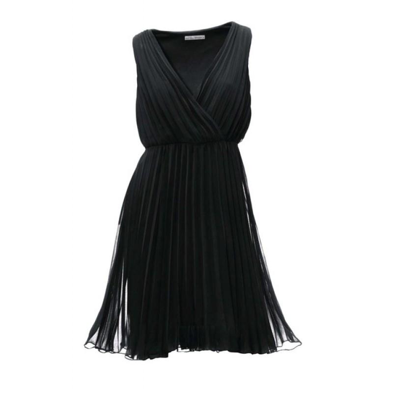 Čierne žoržetové šaty