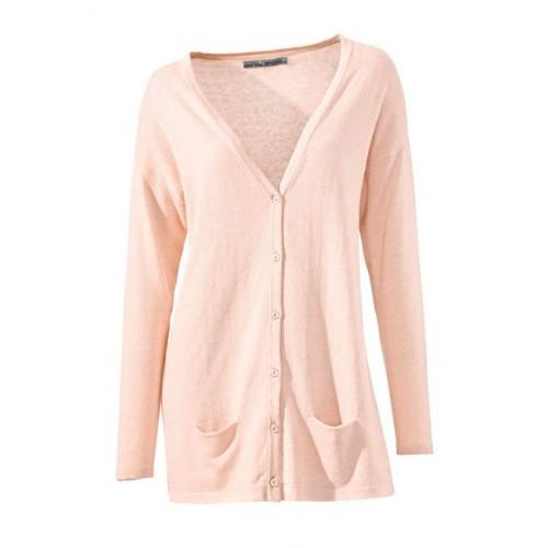 Ružový dlhý sveter s hodvábom Ashley Brooke - ružová - 34