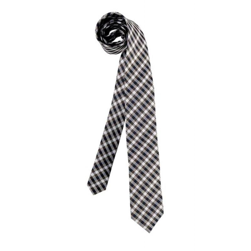 Hodvábna kravata, modro-sivobéžová