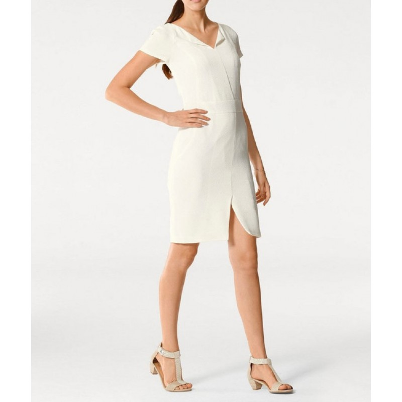 Biele púzdrové šaty PATRIZIA DINI