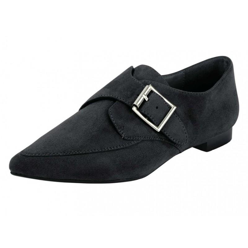 Kožené elegantné topánky, čierna