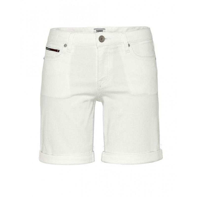 Tommy Jeans bermudy, biela