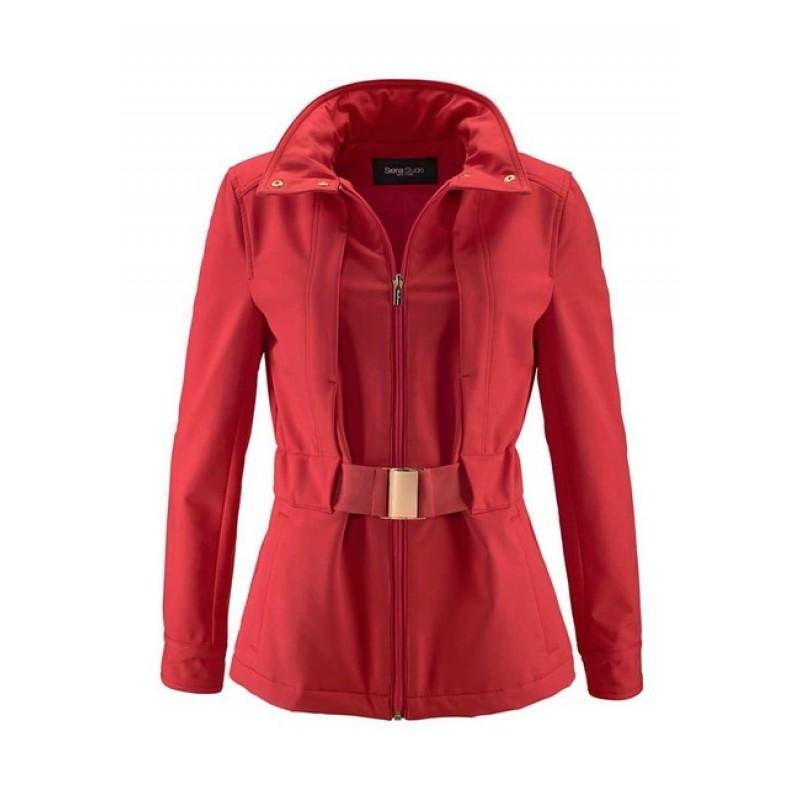 Červená softshellová bunda Siena Studio