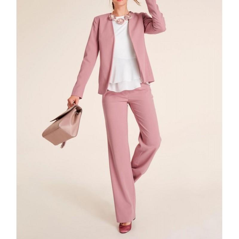 Nohavicový kostým Heine, ružová