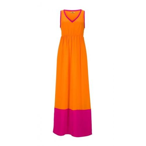 Maxi šaty Buffalo, oražovo-ružová