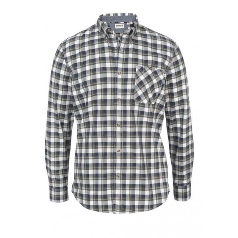 Pánska košeľa TIMBERLAND, čierno-biela-khaki