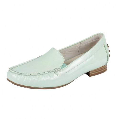 Kožené lakované topánky Gabor, mätová