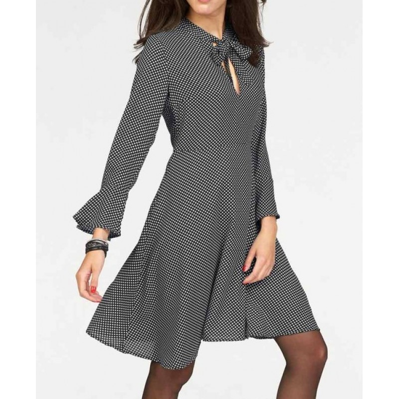 Bodkované šaty, čierno-biele Vivance Collection
