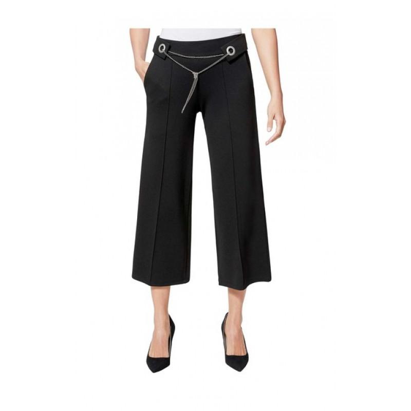 Culotte nohavice s retiazkovým opaskom Création L, čierna
