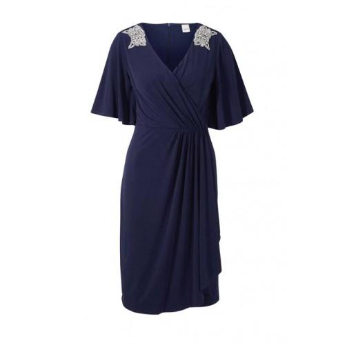 Šaty so štrásom HEINE, modrá
