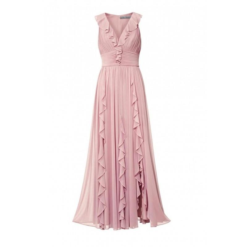 Spoločenské šaty Ashley Brooke, púdrovo-ružová