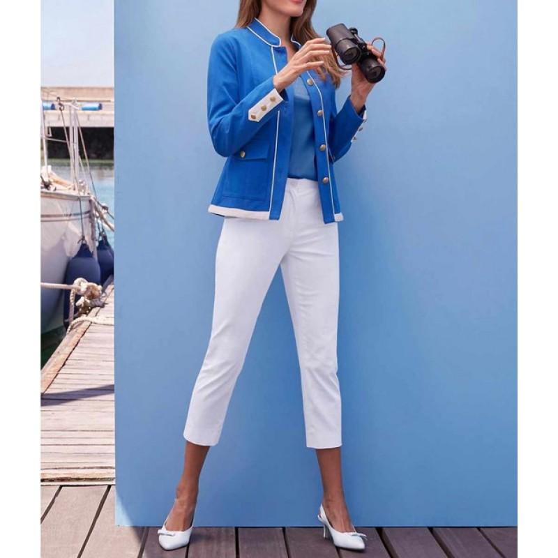 Blejzer Heine v námorníckom štýle, modrá