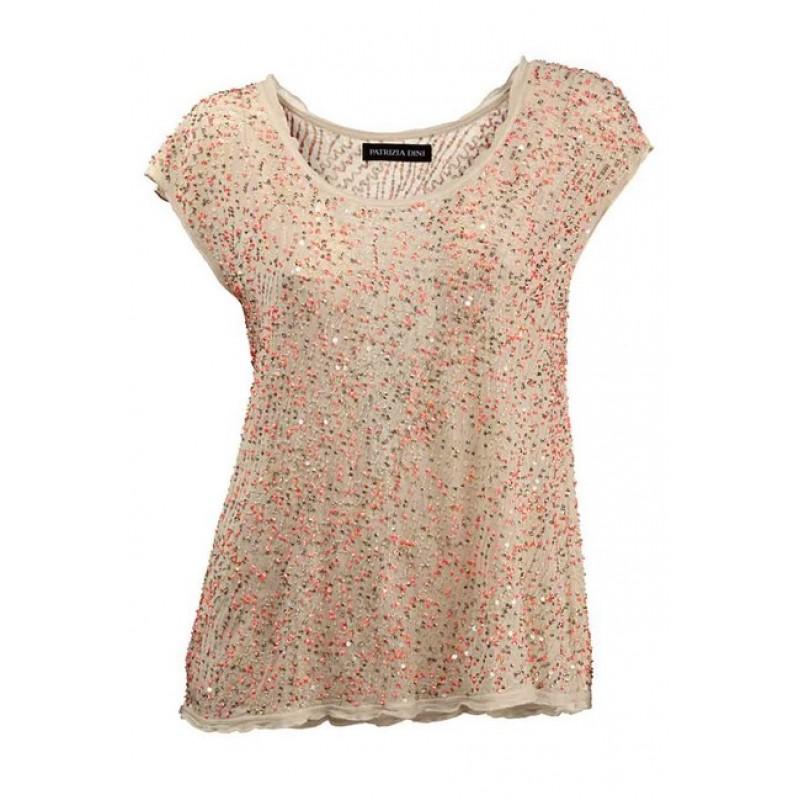 Elegantné tričko Patrizia Dini - béžová - 36