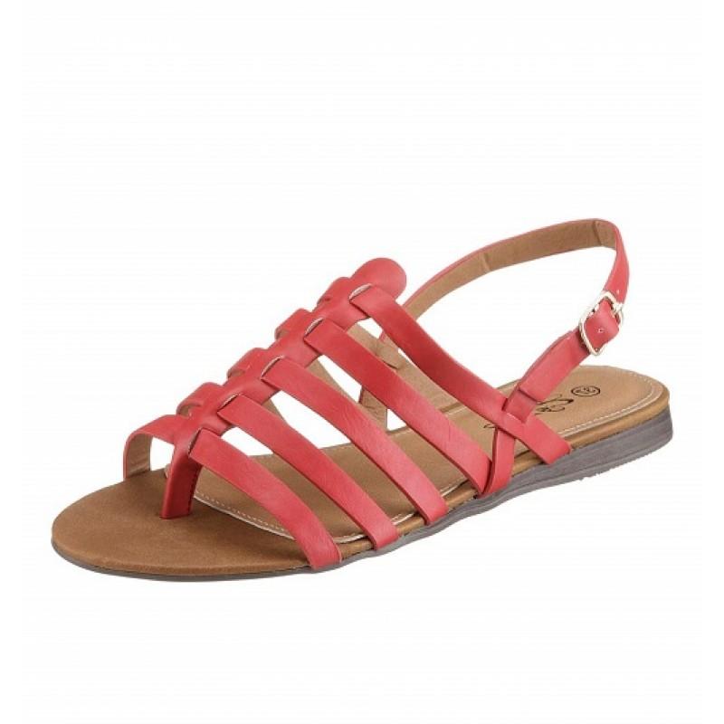 Koralové sandále s remienkami City Walk - koralová - 36