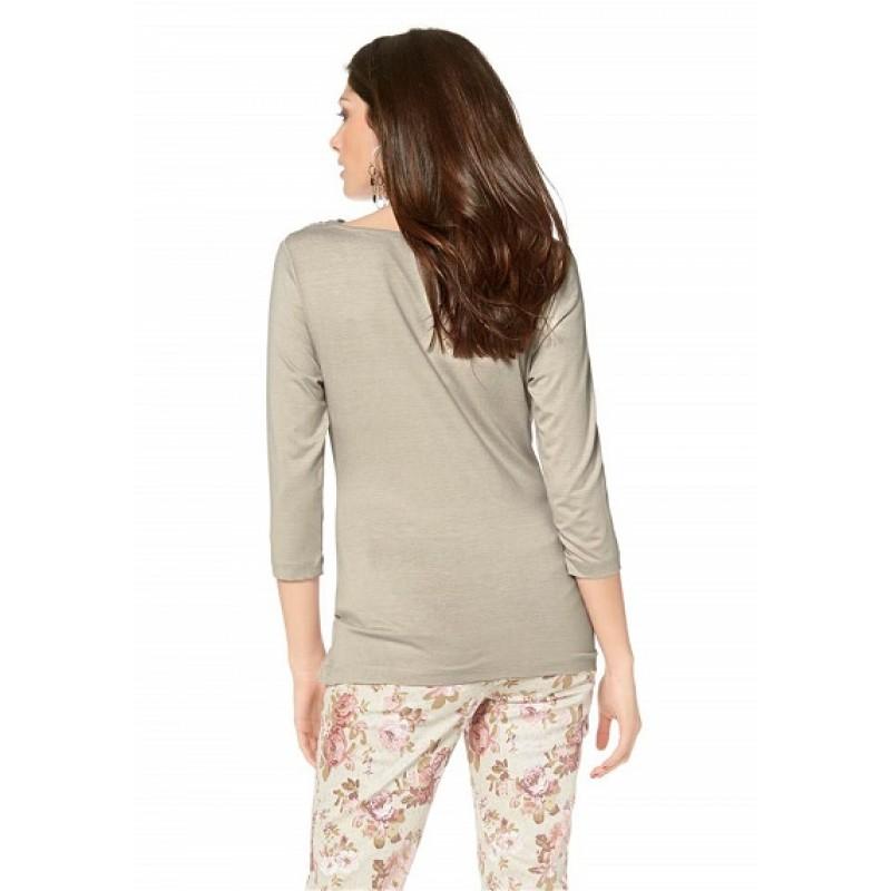 Atraktívne tričko Vivance Collection - béžová - 34