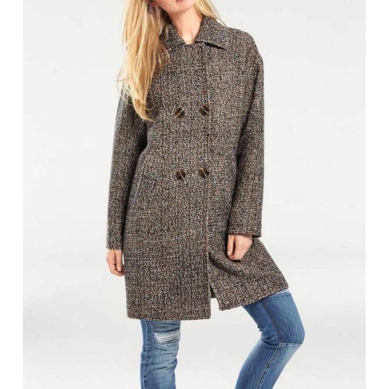 Buklé kabát Heine, hnedo-farebný