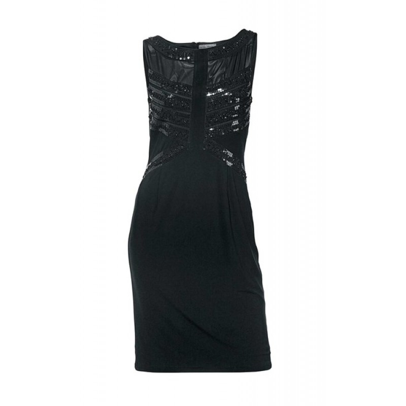 Ashley Brooke šaty s flitrami, čierne - čierna - 38