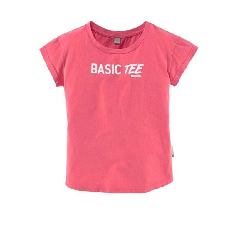 Dievčenské tričko BENCH, koralová