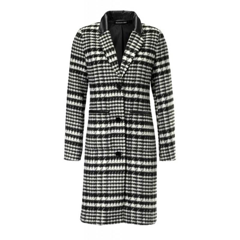 Kabát Patrizia Dini, čierno-biely