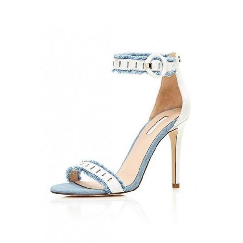 """GUESS kožené sandálky """"PETRA"""", modrá"""