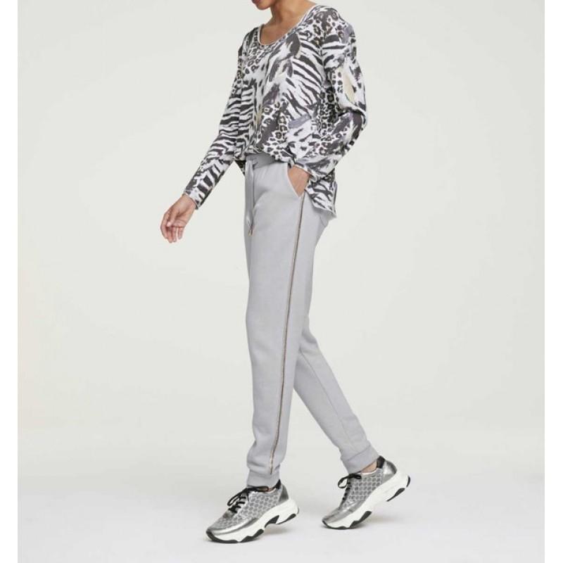 Joggingové nohavice HEINE so štrásom, sivá