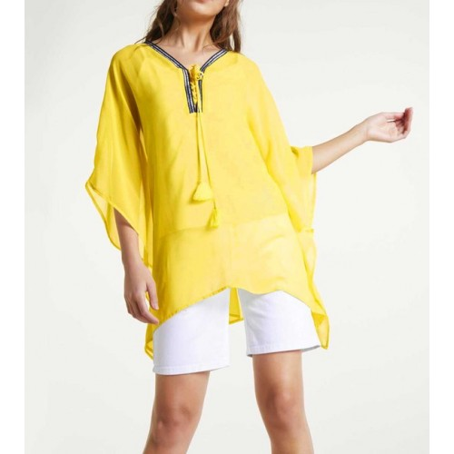 Šifónová tunika s topom Heine, žltá