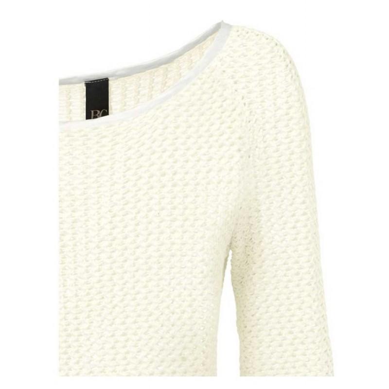 Biely ležérny pulóver so saténom HEINE - B.C. - biela - 36