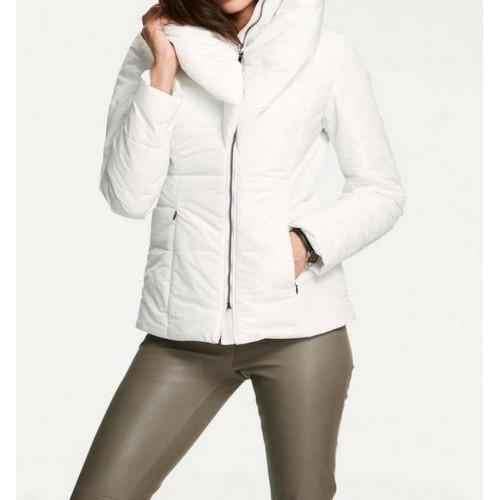 Prešívaná bunda Ashley Brooke, sivo-biela