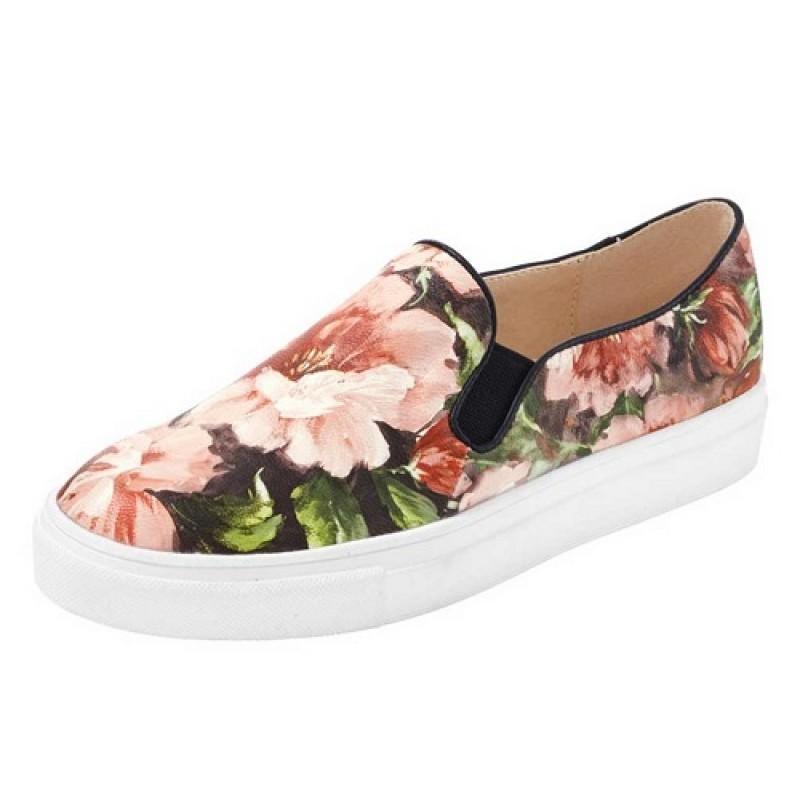 Kvetinové slippery Heine ružové - 35