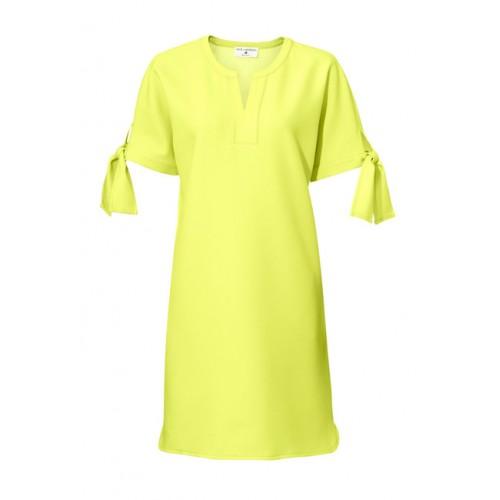 Citrónové šaty s mašličkami - žltá - 36