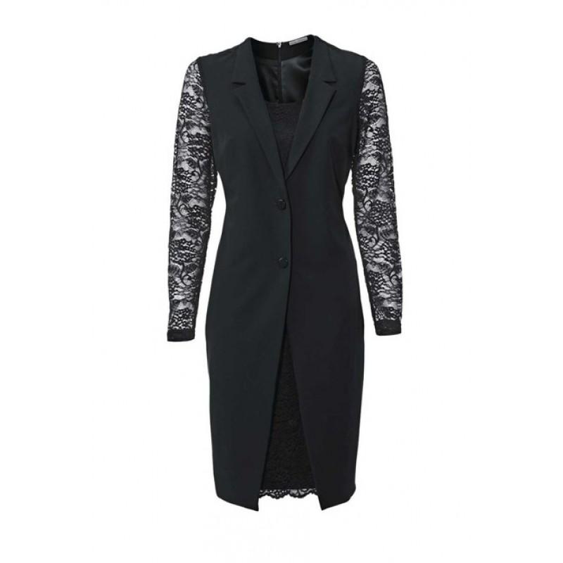 Dizajnové šaty 2 v 1, čierne