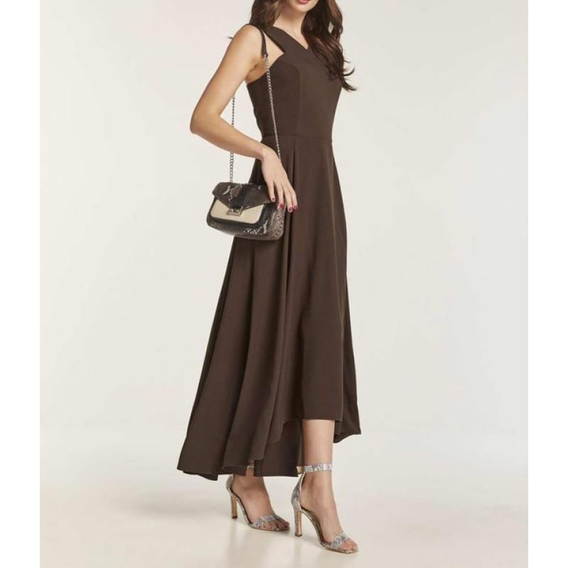 Atraktívne šaty Heine, tmavo hnedé