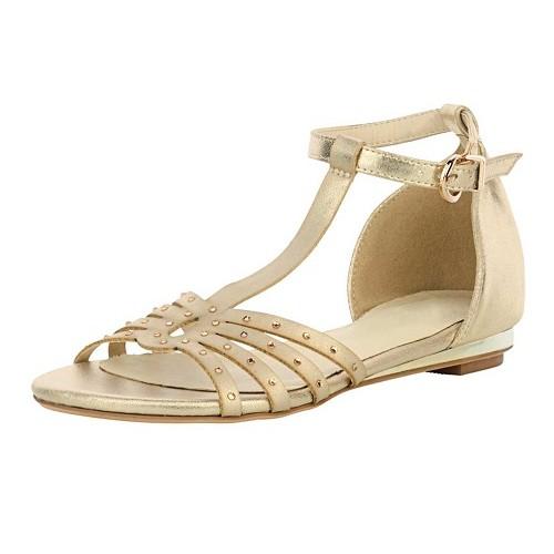 Zlaté sandálky so štrasmi Andrea Conti - zlatá - 36