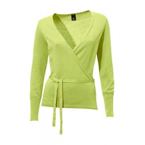Svieži zelenkavý zavinovací sveter HEINE - B.C. - zelená - 38