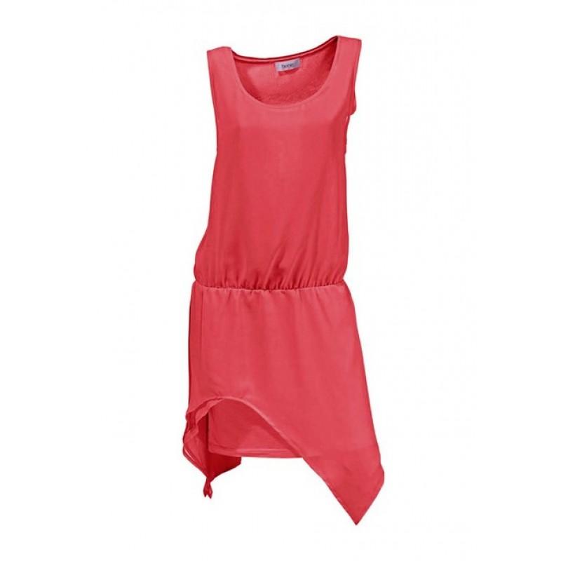 Asymetrické šifónové šaty HEINE, červené