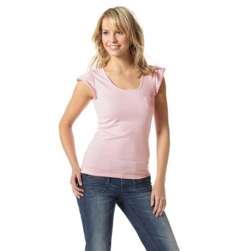 Dámske ružové tričko Flashlights - ružová - 32