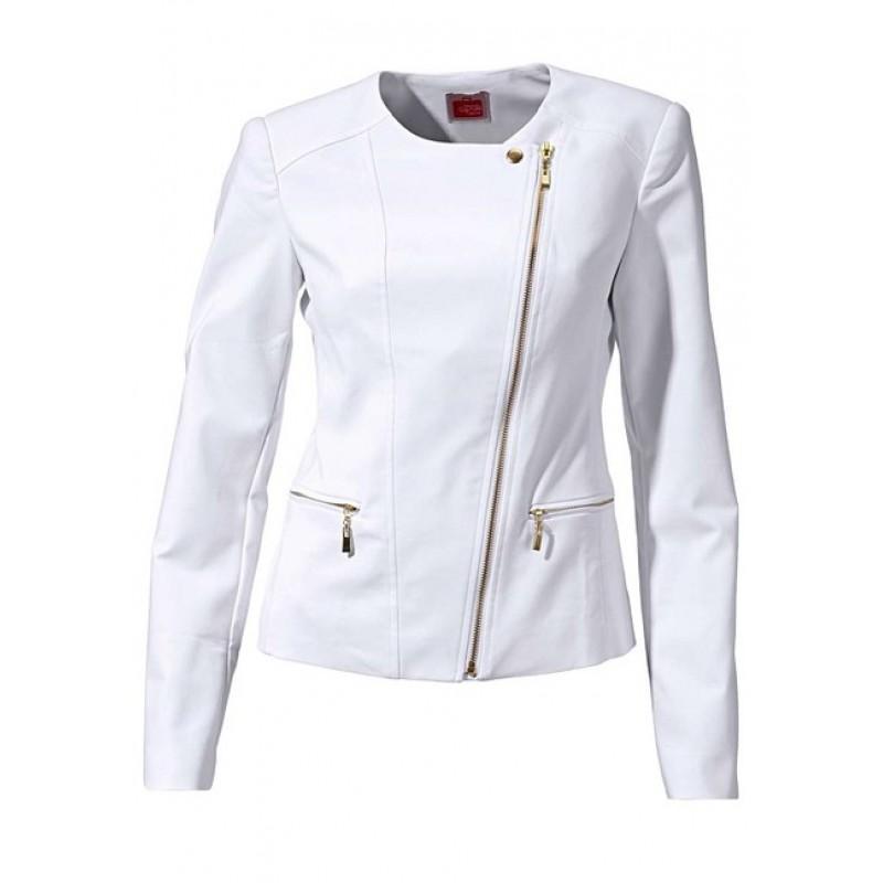 Biele sako so zlatými zipsami Travel Couture - biela - 34